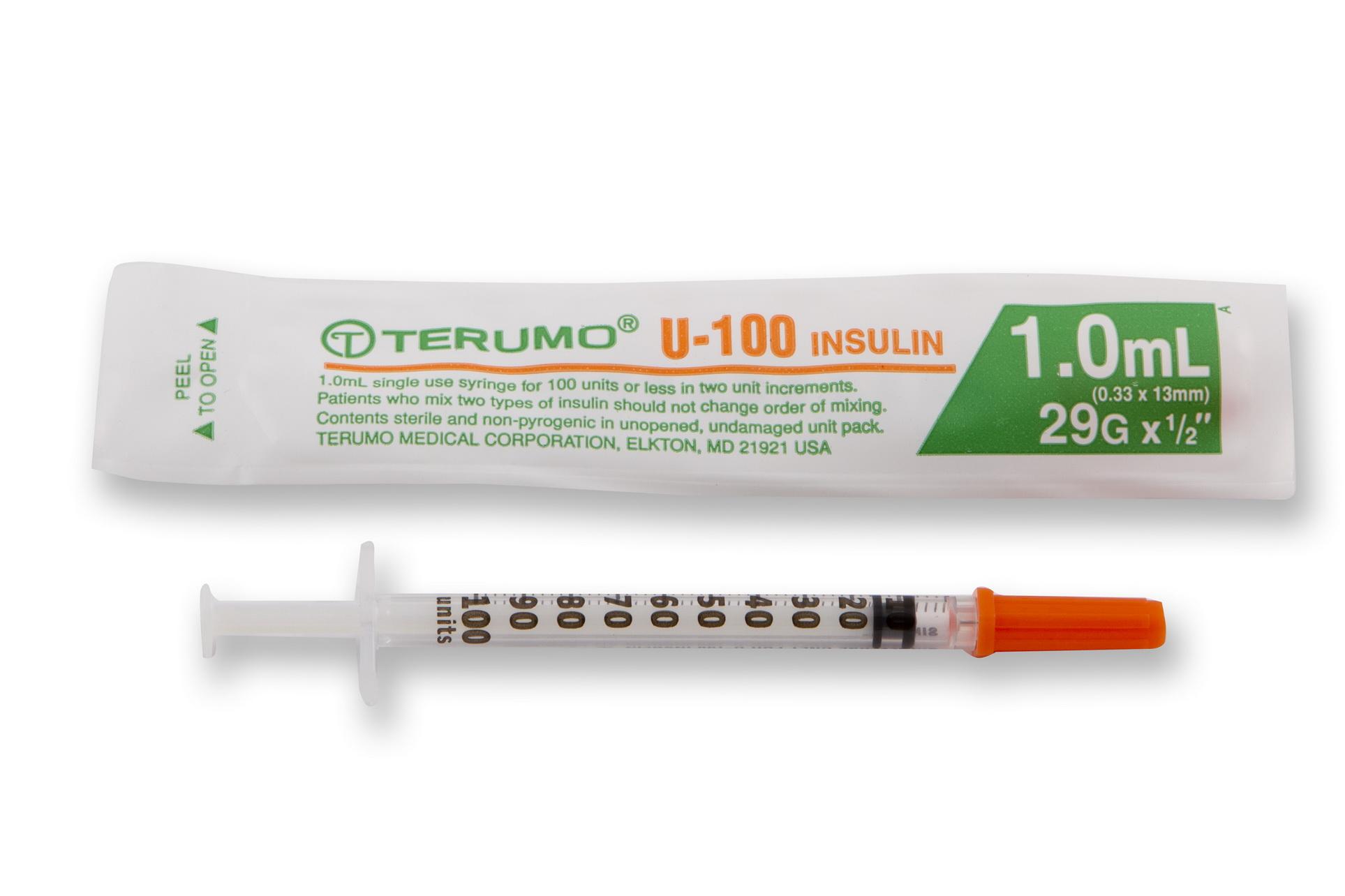 Terumo 29G 1.0ml Insulin syringe