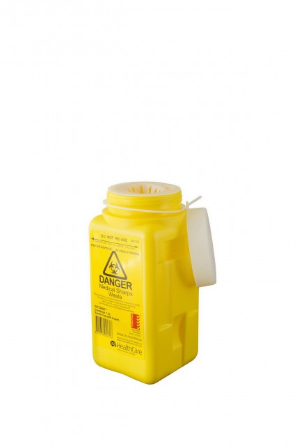 1.4 ltr screw top sharps container