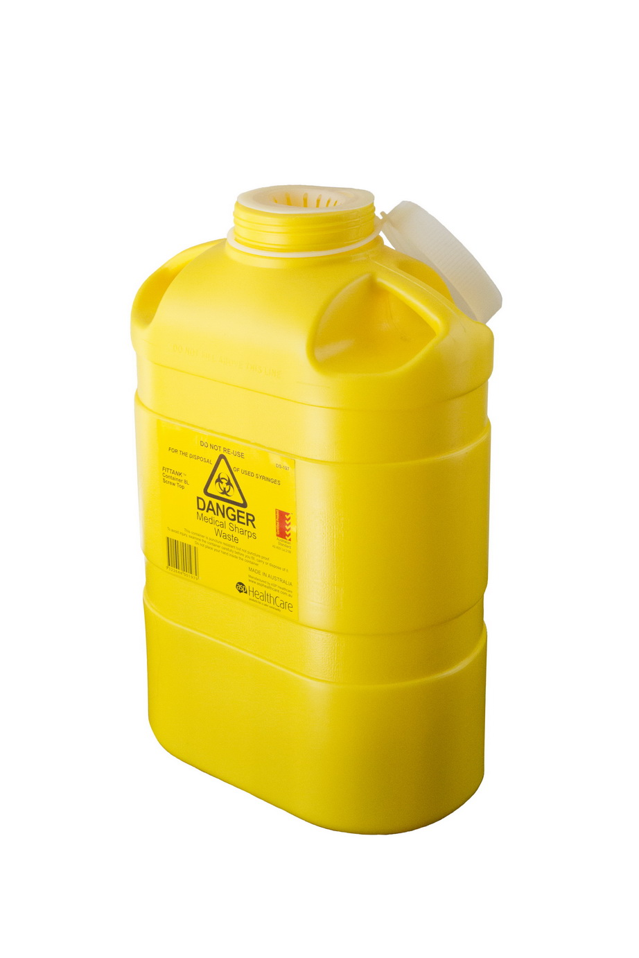 7.8 Ltr Screw Top Disposable Sharps Container